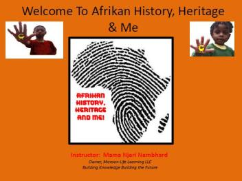 African History Heritage and Me